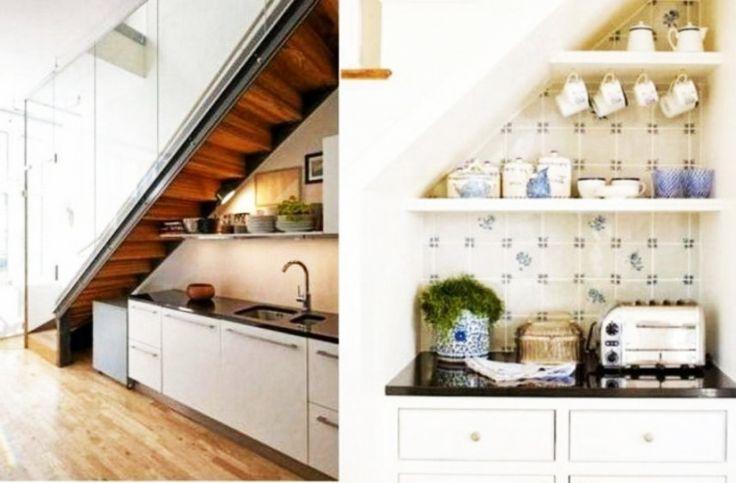 Desain Dapur Minimalis Di Bawah Tangga Cantik