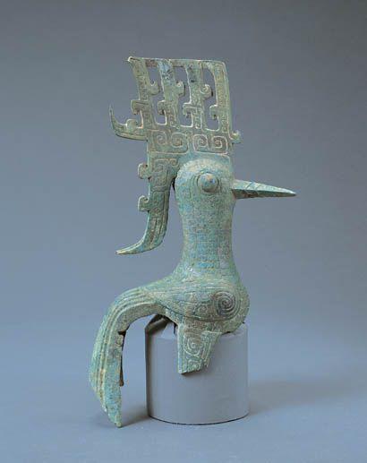 China - Bronze bird unearthed at Sanxingdui