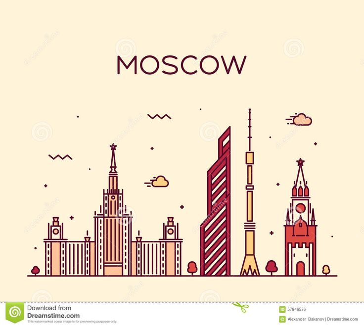 moscow-skyline-trendy-vector-illustration-linear-detailed-silhouette-style-57846576.jpg (1300×1168)