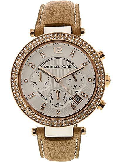 cdb8dcb84a8e Amazon.com  Michael Kors Women s Mini Parker Two-Tone Watch MK6110  Michael  Kors  Clothing