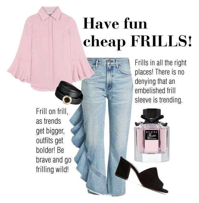 """""""Have fun, cheap FRILLS!"""" by alana-alford on Polyvore featuring Citizens of Humanity, Valentino, Maryam Nassir Zadeh and Gucci"""