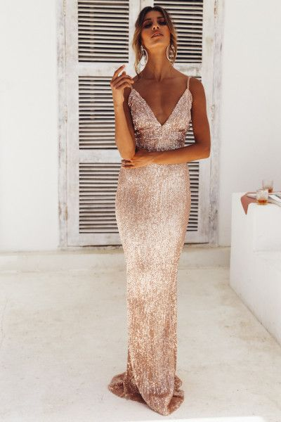 77b5026d24 House Of Fun Maxi Dress Gold in 2019 | dress | Dresses, Prom dresses ...