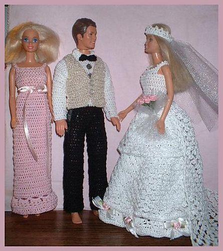 Ravelry: Barbie bride and groom pattern by Lynne Sears