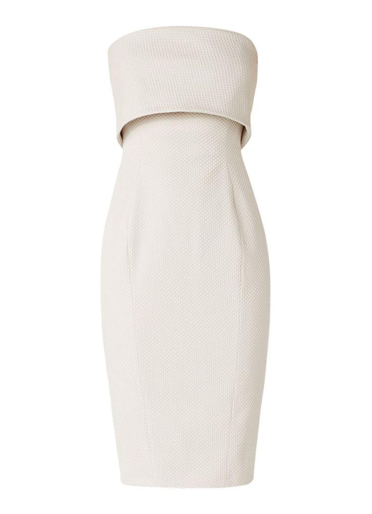 Karen Millen Strapless pencil dress with texture • Beehive