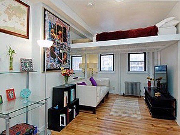 Loft Bed Turns SingleFloor Studio To TwoLevel Apartment. Build Loft Space  11 Ft Ceilings Google Search Baby Pinterest