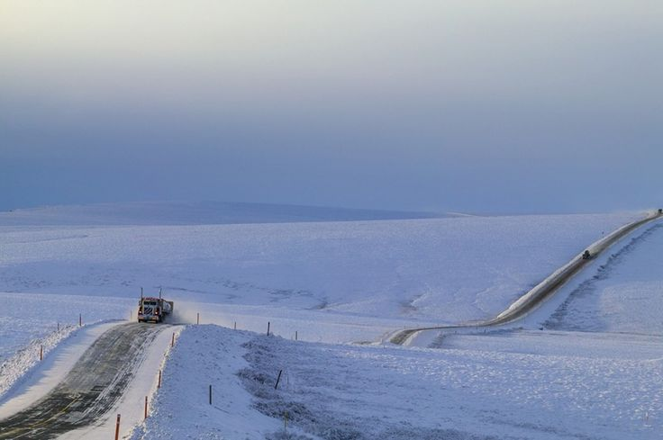Dalton Highway in Alaska is the most isolated highway in the world. It is 666 km long, and only connects 3 small villages.