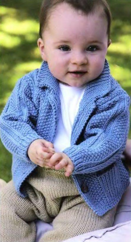 Вязание для малышей текстурного жакета Textured, Rowan Baby Knits. Переклад