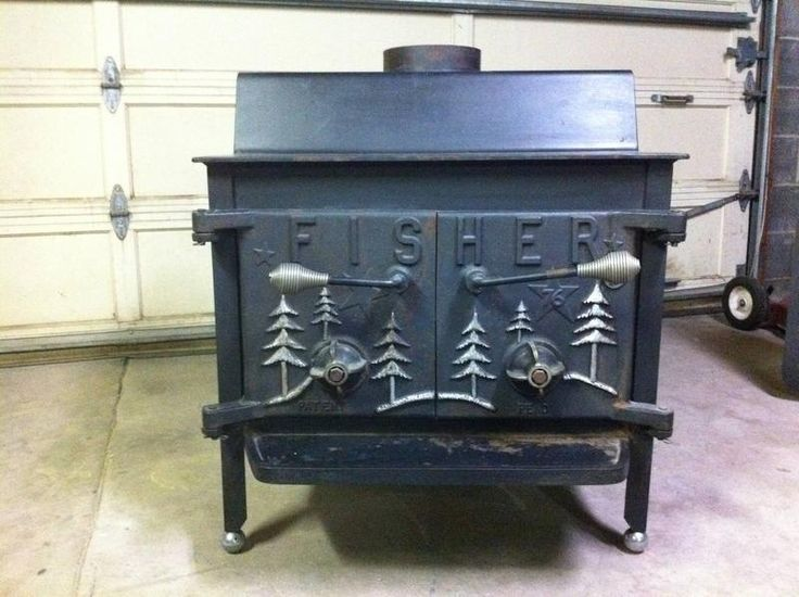 Vintage Bicentennial Grandpa Bear Fisher Wood Stove Wood