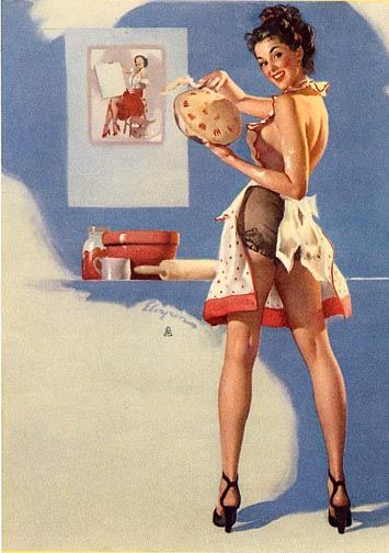 What's cooking good looking| Pinup Girl  http://thepinuppodcast.com features pinup models and pin up photographers.