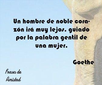 Frases de amor de escritores de Goethe