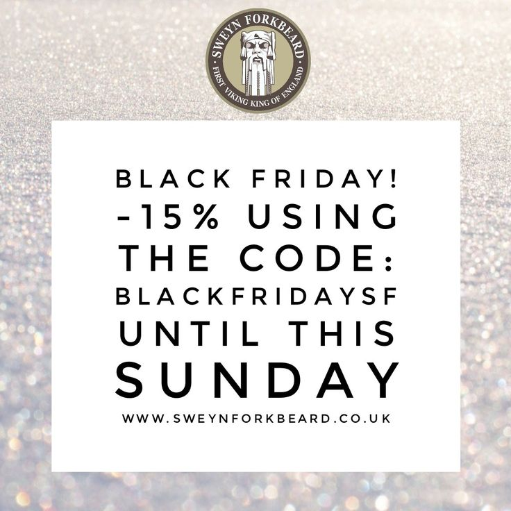 Black Friday Promotion in Sweyn Forkbeard! -15% in everything using the Code: BLACKFRIDAYSF until this Sunday. Plus Free Shipping in the UK. Grab now your grooming essentials or his Christmas Gift at www.sweynforkbeard.co.uk #blackfriday #blackfridaypromotion #malegrooming #beard #bearded #beardoil #beardbalm #beardshampoo #vikings #mensgrooming #pomade #christmasgift #beardie #beardlife #beardgang #shavingcream #grooming #shaving #wetshaving #wetshave #sweynforkbeard #shaveoftheday…