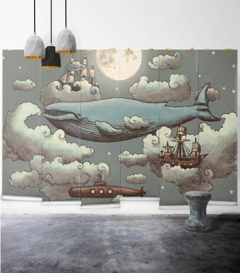 Ocean Meets Sky Wall Mural from Muffin & Mani