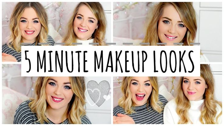 5 Minute Quick & Easy Makeup Looks | LucyAndLydia