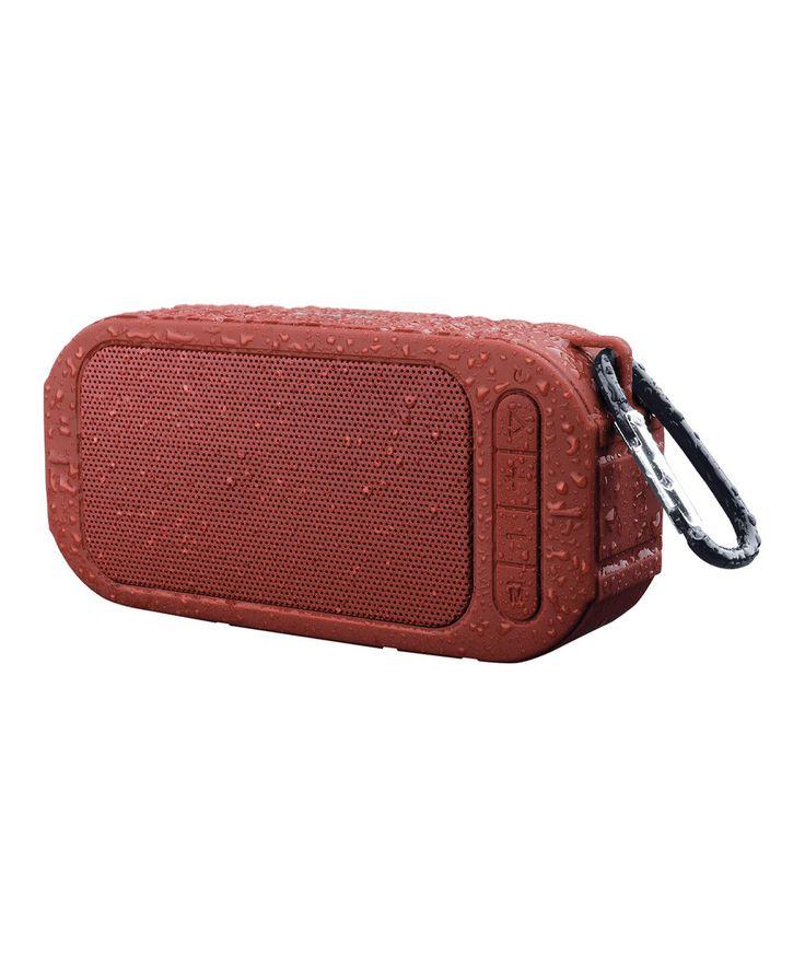 Marsala Red Ascend Outdoor Wireless Speaker by Merkury Innovations #zulily #zulilyfinds
