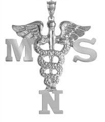 NursingPin - Masters of Science in Nursing MSN Graduation Charm in Silver -- More info could be found at the image url. (This is an Amazon Affiliate link and I receive a commission for the sales)