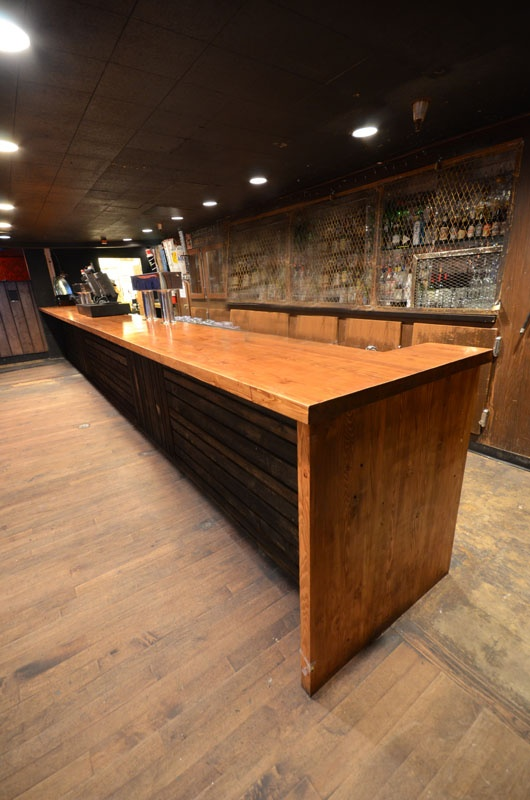 17 best images about bar ideas on pinterest liquor storage wood countertops and bar tops - Wood bar designs ...