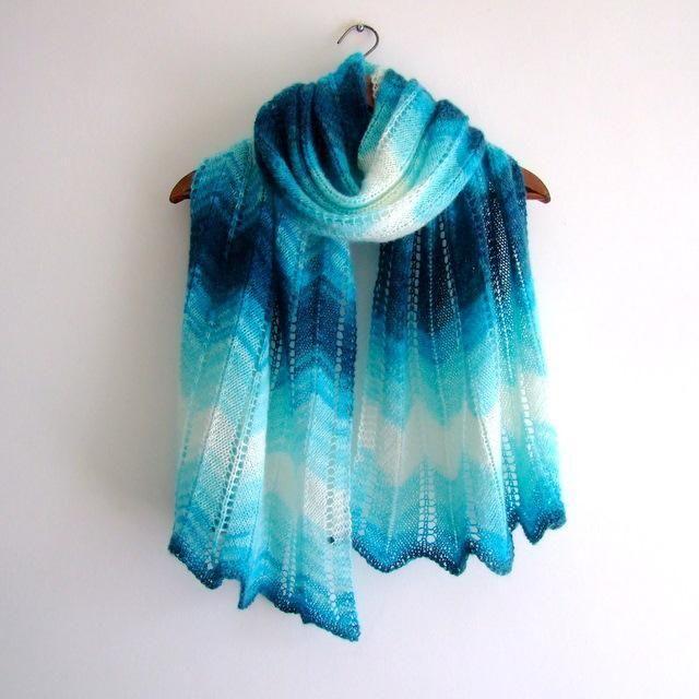 Garter Stitch Zig Zag Scarf Knitting Pattern : Best knitting women s cowls scarves shawls images