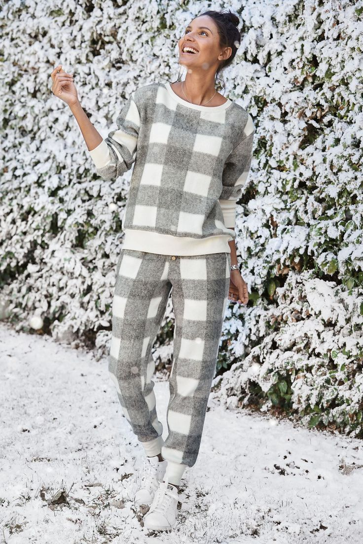 Buy Grey Fleecey Check Pyjamas from the Next UK online shop