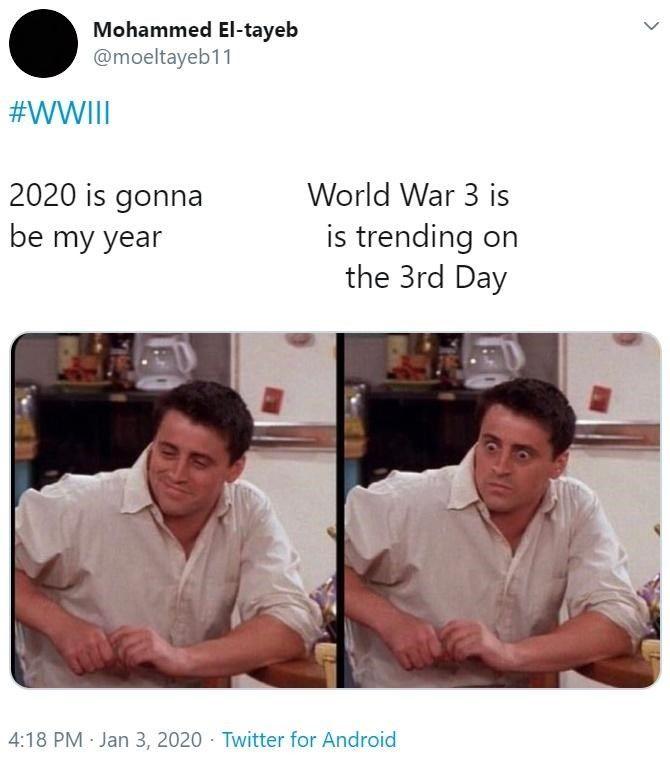 Potential For World War 3 Is Sparking Some Nervous Reaction Memes Memes Funny Relationship Memes World War