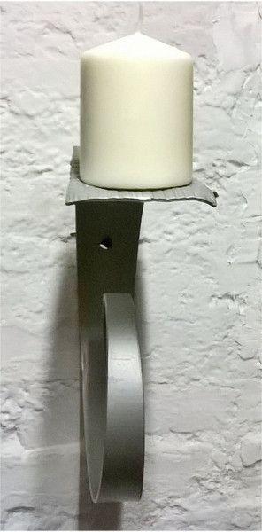 Portacero da parete, in lamiera di ferro, classico di Artistic Wrought iron su DaWanda.com