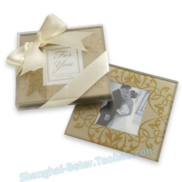 Golden Brocade Wedding Gifts Valentinedaygifts And Love Wholesale Aliexpress Photo CoastersGlass