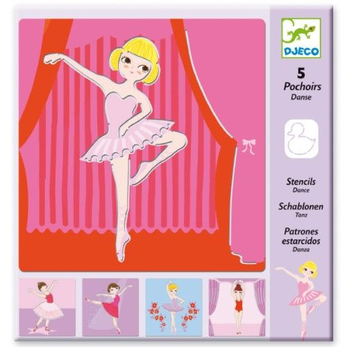 5 planches de pochoirs pour dessiner en un coup de crayon toute sorte de danseuses gracieuses !