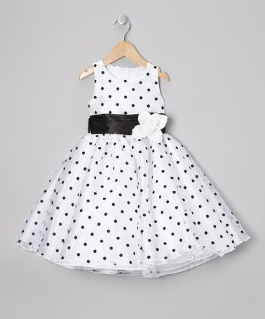 Take a look at this Black Polka Dot Organza Dress - Infant, Toddler & Girls by Kid Fashion on #zulily today!