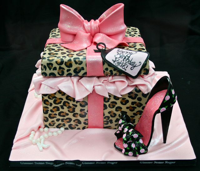 Looks like a fun birthday cake, could be a bridesmaid along maid of honor cakes.