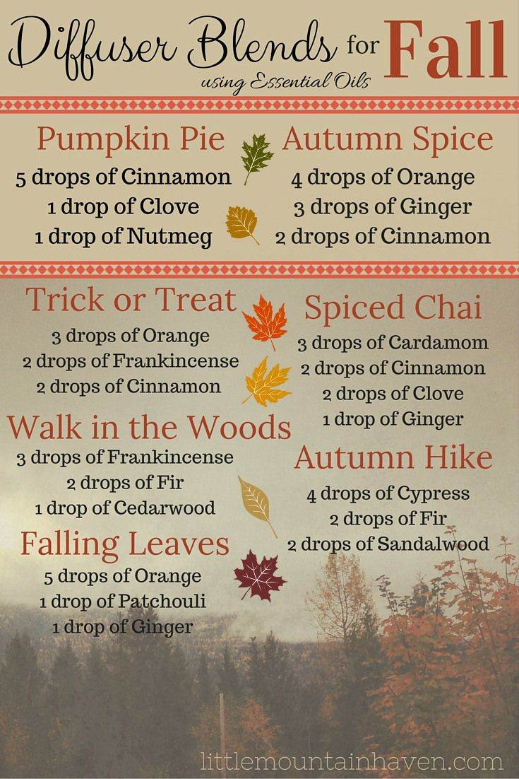 Fall Diffuser Blends using Essential Oil