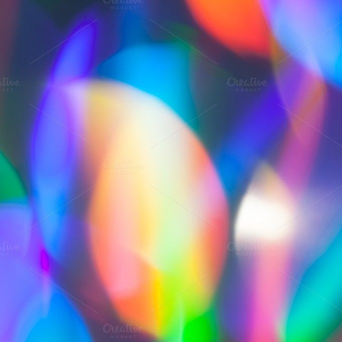Rainbow Laser Prism Bokeh. Holographic Backgrounds. $5.00 ...