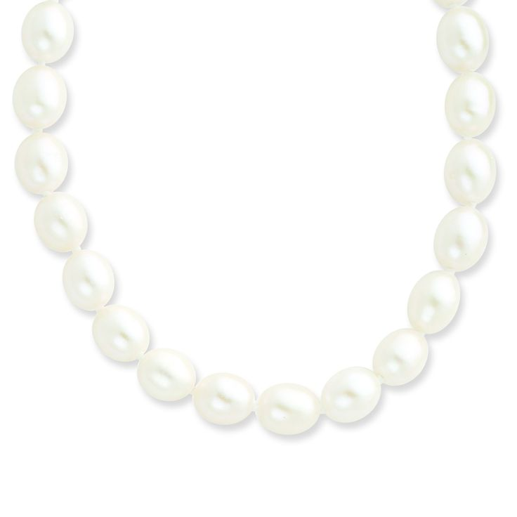 14k 6-7mm White Rice FW Cultured Pearl Necklace XF406