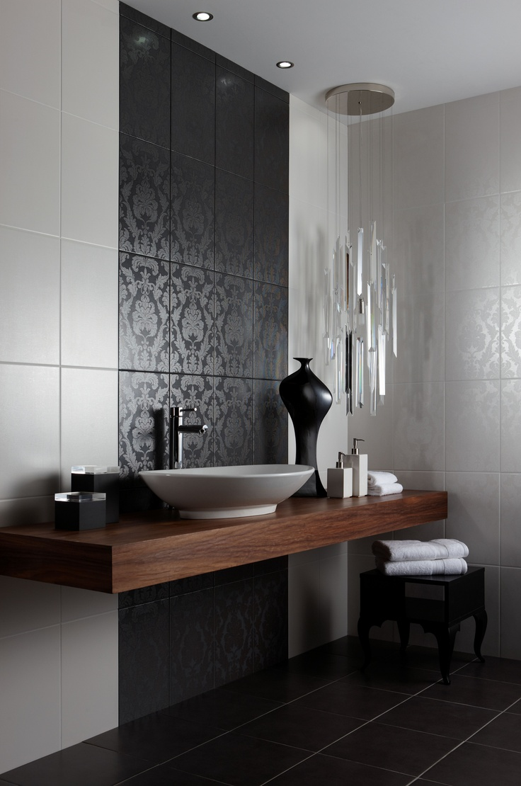 Chambray by BCT.  The Chambray collection incorporates a range of design styles, offering everything from the simplest to the most glamorous solutions. The field tiles have a fine linen texture which provides a subtle finish with a satin feel, while the feature tiles exclusive to Walls and Floors are the perfect choice if you are looking for a striking unique effect.