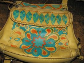 how to paint on leather