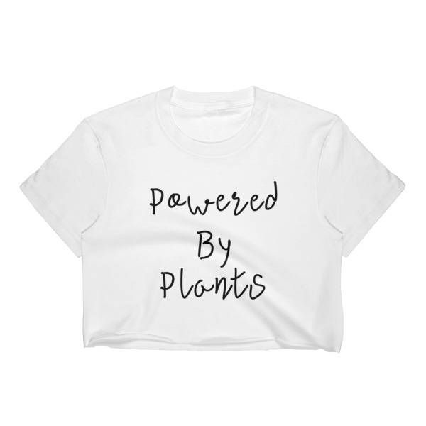 Powered By Plants Crop top - Animal Rights Crop Top - Vegan Crop Top - Vegetarian Crop Top - Women's Crop Top - animal rights slogan tshirt As a Life-Long Vegetarian and Animal Rights Activist, my new line of animal rights and vegan/vegetarian shirts mean a lot to me, and are products I've been wanting to make for a long time now. I grew up on a family sanctuary with a veterinarian and a wildlife rehabilitator as parents, and animals have always been an enormous part of my life!   I hope you…
