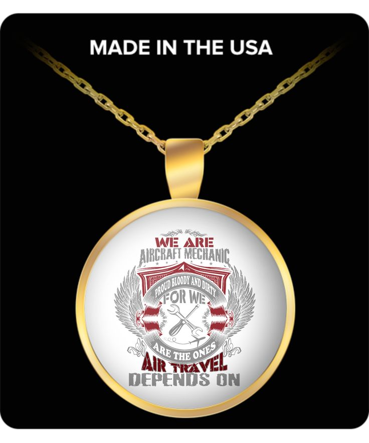 * JUST RELEASED * $19.95 Aircraft Mechanic Gold Pendant Limited Time Only This item is NOT available in stores.  Guaranteed safe checkout: PAYPAL | VISA | MASTERCARD  Click BUY IT NOW To Order Yours! (Printed, Made, And Shipped From The USA)