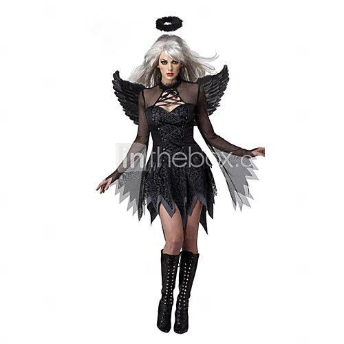 Costumes de Cosplay Costume de Soirée Ange et Diable Fête / Célébration Déguisement d'Halloween Noir Mosaïque Robe Plus d'accessoires de 2017 ? €19.59