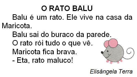 Texto O rato Balu, de Elisângela Terra
