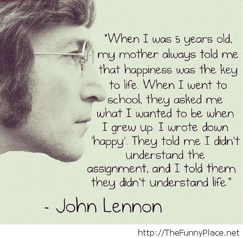 John Lennon Quotes About Life And Happiness