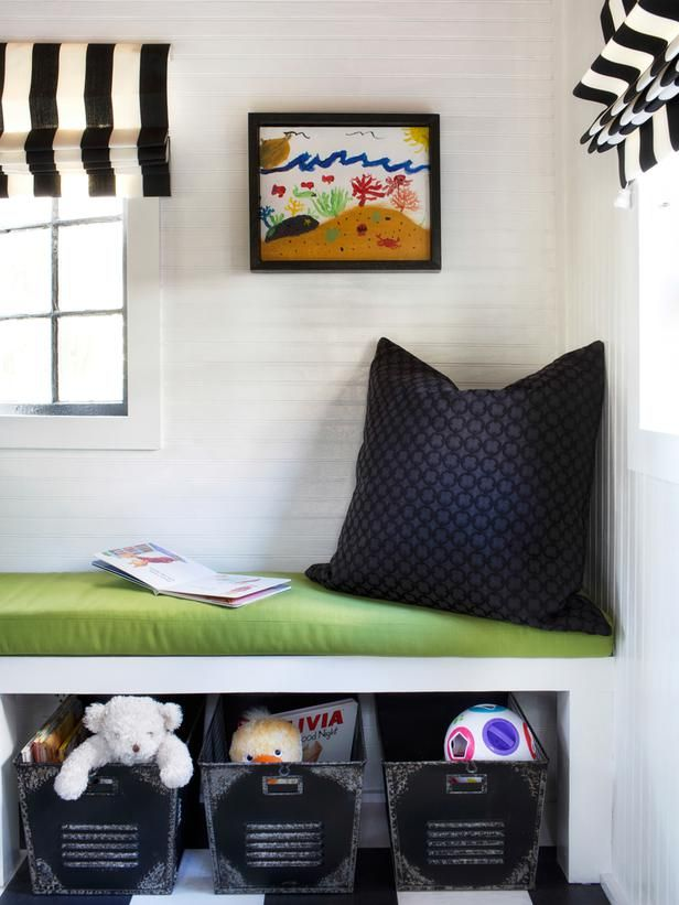 Add a Reading Nook  in How to Dress Up a Basic Playhouse Interior  from HGTV