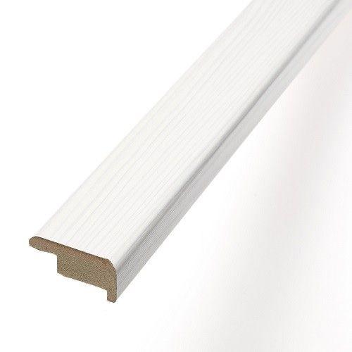 Laminate Flooring Stair Nosing Profile FC56 Artic Pine White   1m