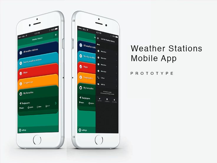 Weather Data Mobile App Prototype by Steve Collins