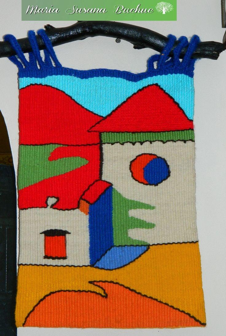Textil Art / Tapiz artesanal con Técnica Alto Liso por María S. Buchuc