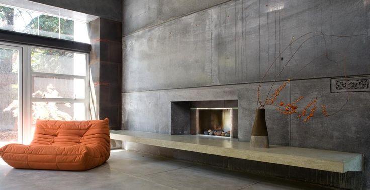 Custom Concrete Fireplace by Fu-TUng Cheng   Concrete Exchange