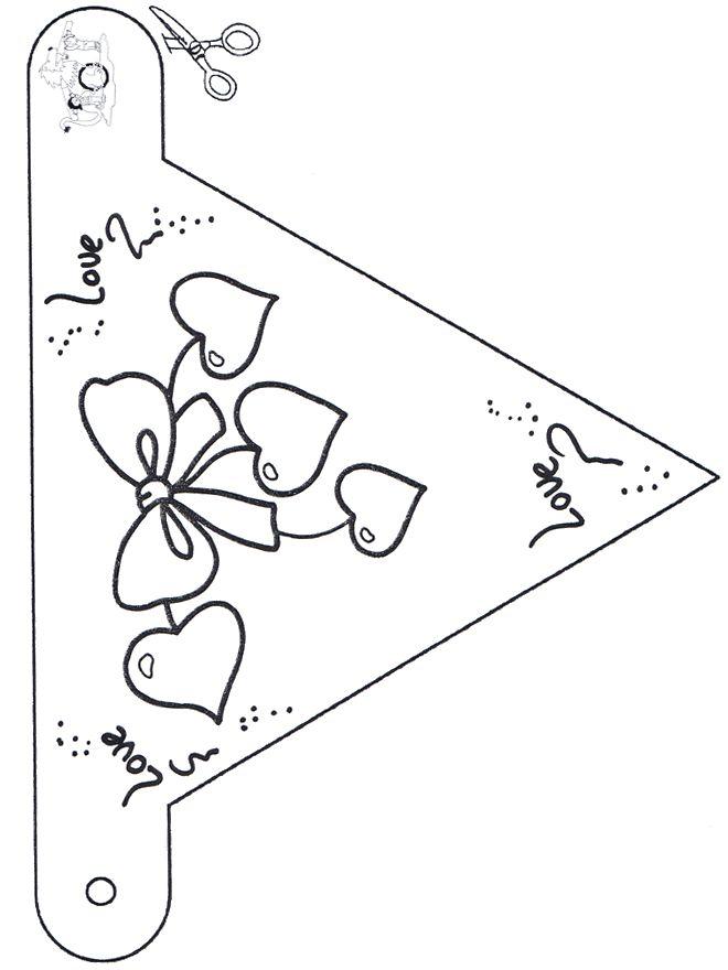 Valentijn vlaggetje 1