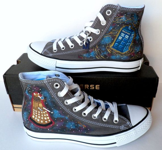 Doctor Who Converse  Tardis & Dalek by emmivisser on Etsy,