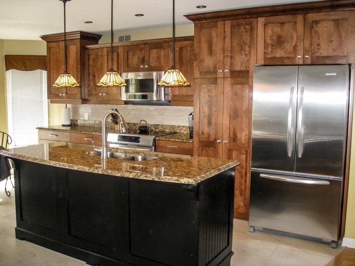 r novation compl te cuisine armoire en bois style shaker deux tons porcelaine imitation. Black Bedroom Furniture Sets. Home Design Ideas