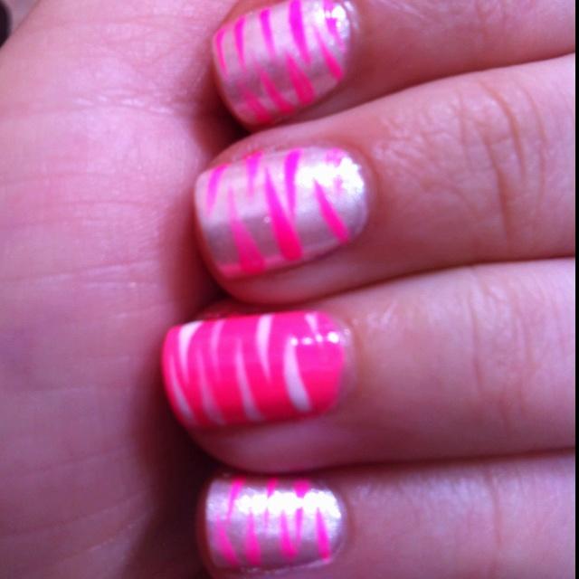 Pink zebra stripes