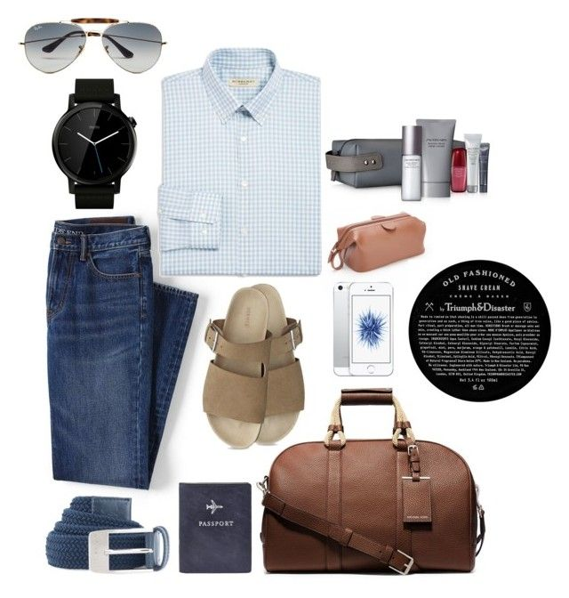 """Untitled #32"" by archita-dewi on Polyvore featuring Michael Kors, Lands' End, Royce Leather, Burberry, Motorola, Triumph & Disaster, Under Armour, Ray-Ban, FOSSIL and Shiseido"