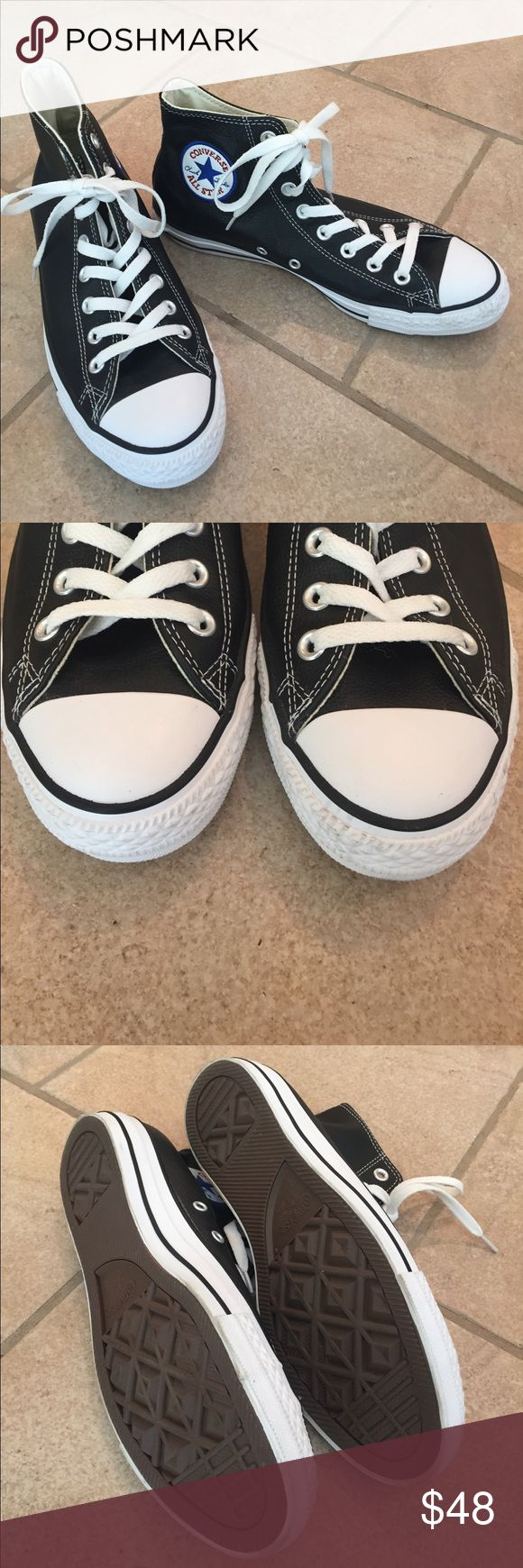 Converse Chuck Taylor Leather High Tops New Without Tags! No blemishes! Size7 1/2 Men / 9 1:2 Women Converse Shoes Sneakers