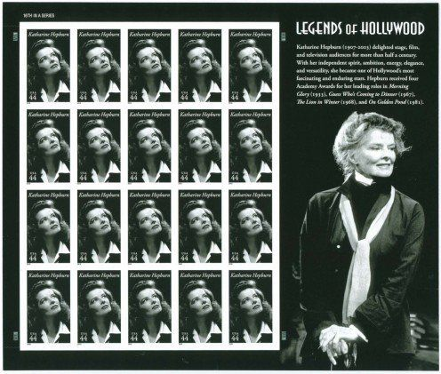 Katharine Hepburn - The US Postal Service:Legends of Hollywood Stamp Series